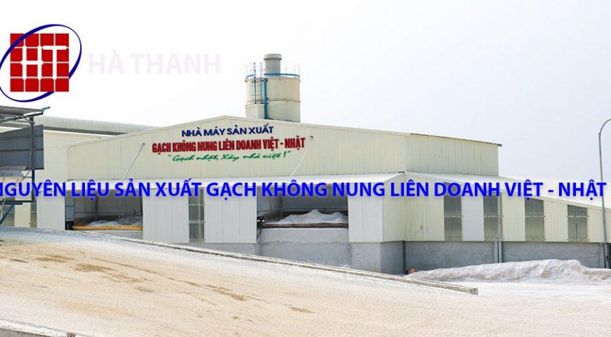 Nguyên liệu sản xuất gạch không nung liên doanh Việt – Nhật